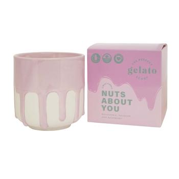 Nuts About You 2W Candle 40hr Macadamia & Rhubarb Gelato