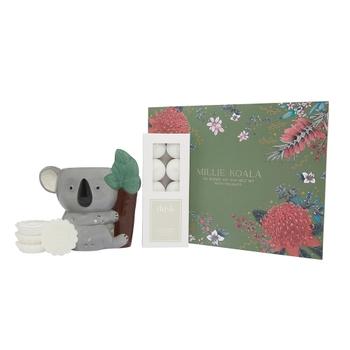 Millie Koala Oil Burner with Tealights & Wax Melts Gift Set Bundle